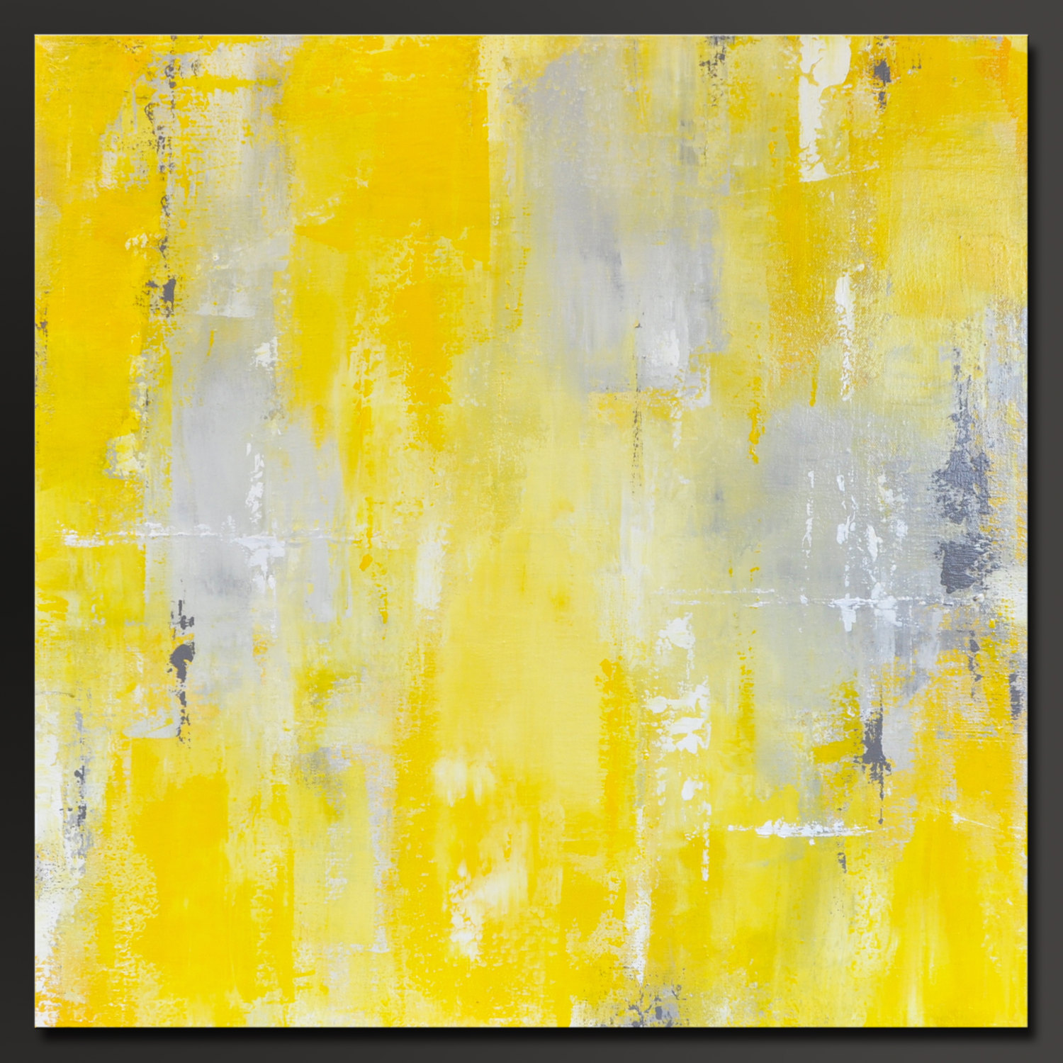 Sunshine - 24 x 24 - Abstract Acrylic Painting - Contemporary Wall ...