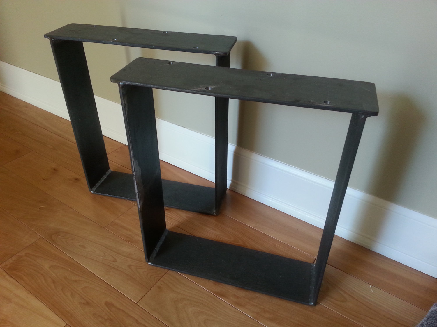 Flat Bar Heavy Duty 4 Bench Leg Set Coffee Table Metal