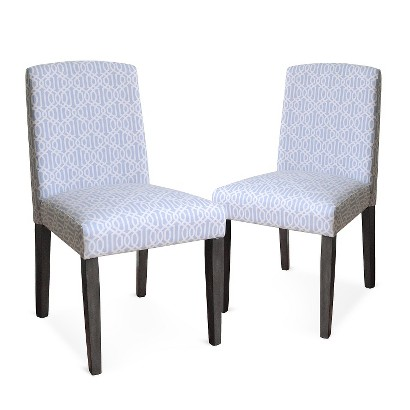 Dining Chair Set: Threshold Marion Dining Chair   Blue/White Trellis