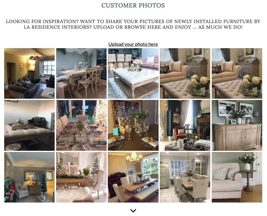 example of customer photos