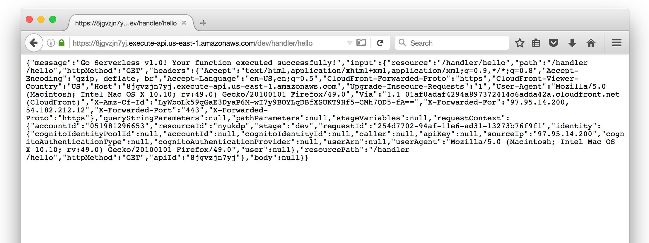 Serverless browser test