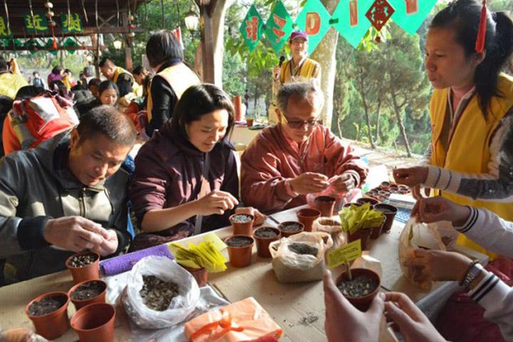 福智朝禮法會-種樹救地球展區