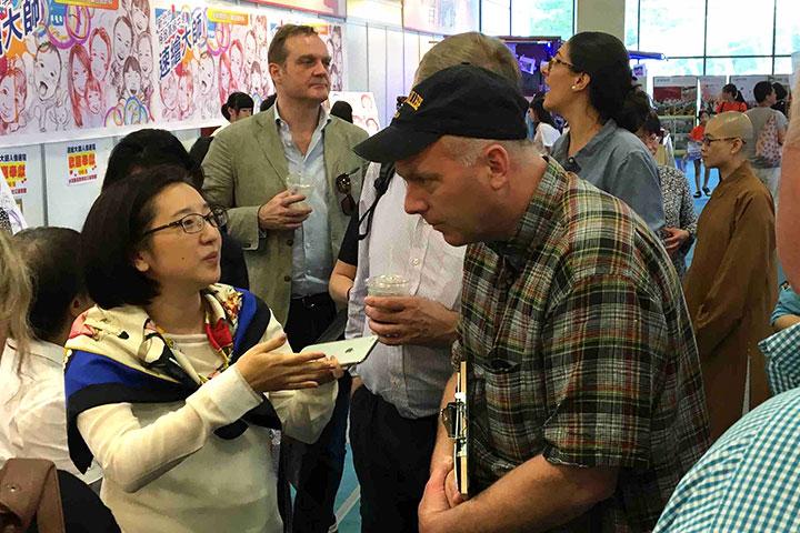 美國有機貿易協會代表參訪里仁「誠食互助匯」展館