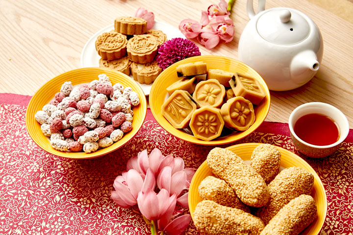 里仁傳統年貨:生仁糖、麻粩、綠豆糕、杏仁餅