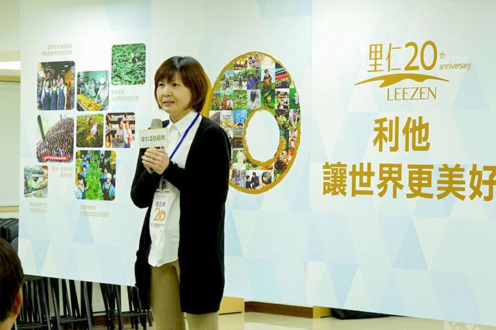 宏亞公司總經理張云綺分享認同里仁無添加的誠食理念