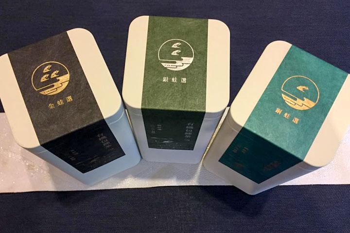 有機包種茶三種評選等級:金蛙選、銀蛙選、銅蛙選