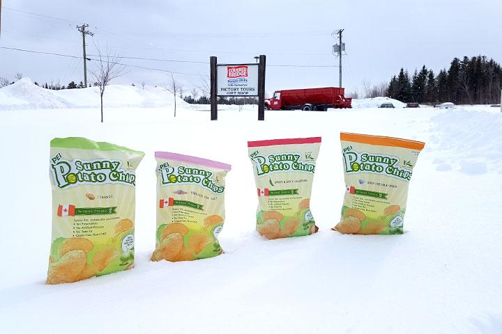 PEI的胚芽餅——陽光薯片,雪地燦爛
