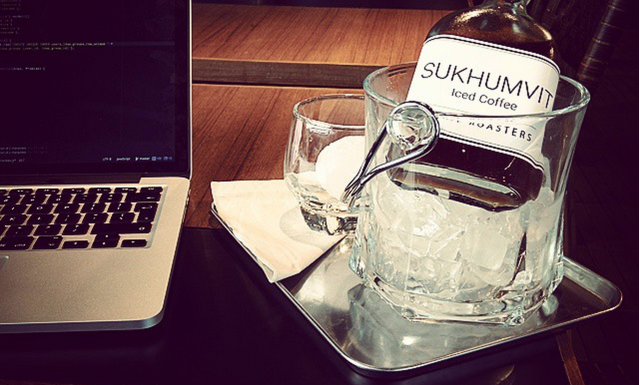 Local cafe in Bangkok -  a perfect workspace for  with one of the finest cold brews to be found.