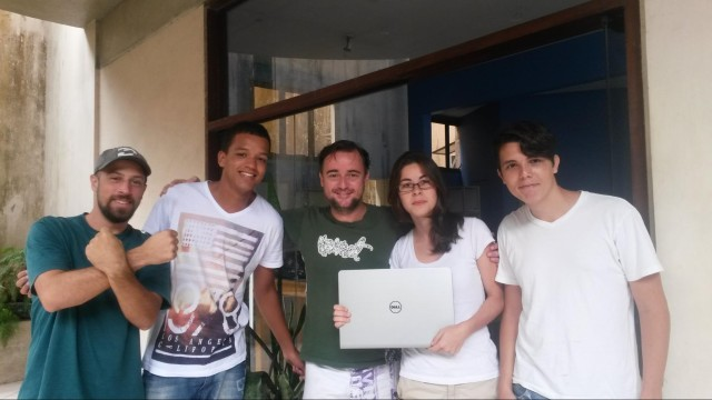 From left to right, me, Juinior, Álvaro, Jéssica and João. The initial Avante team.