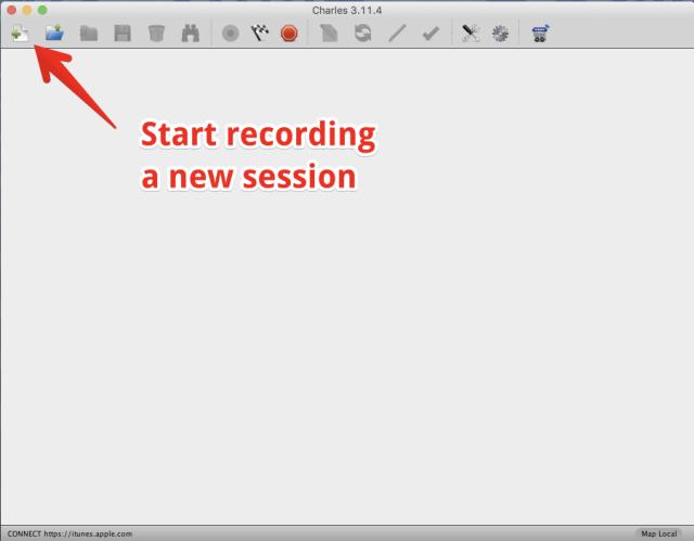 Step 1 - start recording