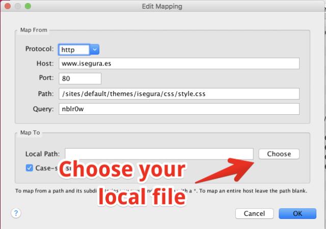 Step 4 - set local file