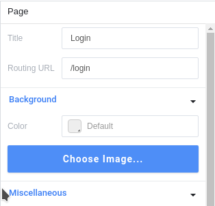 Right panel: Login page attributes
