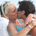 Bridgette Nielsen Kisses Her Boy