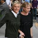 Ellen DeGeneres And Portia de Rossi Visit The Late Show With David Letterman