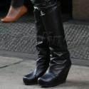 Lenny Kravitz Wears Platform Leather Boots