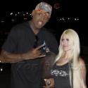 Rodman And One Very Bruised Blonde