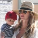 Gisele And Baby Benjamin Hit The Beach