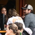 Gerard Butler Lunches With Some Babes At Bar Pitti