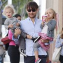 Tobey Maguire Lifts His Kids