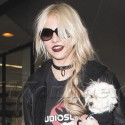 Taylor Momsen Lands At LAX With Her Dog