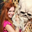 Phoebe Price Plays Peek-A-Boo At Pumpkin Patch