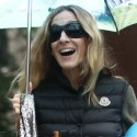 SJP Walks James To School In The Rain