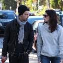 Ashley Greene And Joe Jonas Take Their Pups For A Walk
