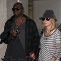 Heidi Klum And Seal Return From New York