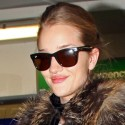 Rosie Huntington-Whiteley Lands At Heathrow