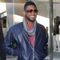 Usher Gets Colorful In Bev Hills