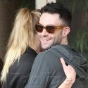 Adam Levine Engages In Some PDA