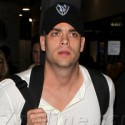 Mark Salling Heads Through LAX After Arriving From London