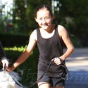 Noah Cyrus Walks The Dog Near Her Home