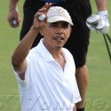 President Barack Obama Hits The Golf Course