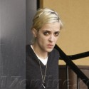 Samantha Ronson smokes after her workout session in LA