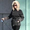 Catherine Zeta-Jones Stays Warm While Walking The Dog