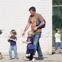 Dennis Quaid And His Kiddos Play At The Park