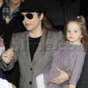 Lisa Marie And Family Arrive At LAX