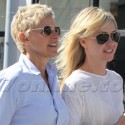 Ellen DeGeneres And Portia De Rossi Walk Arm In Arm