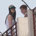 Ali and Cody Lohan Chill On The Balcony