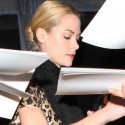 Jaime King Wears A Leopard Dress At French Connection Party