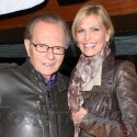 Larry King And Wife Shawn Grab A Bite At Red O
