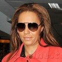 Mel B Looks Exhausted At The Airport