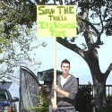 Charlie Sheen Inspires A Supporter To Protest Outside His Home