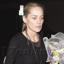Sharon Stone Has A Birthday Dinner At Red O