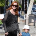 Marcia Cross And Savannah Hang Out In Brentwood