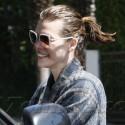 Milla Jovovich Runs Errands With Wet Hair