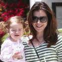 Alyson Hannigan Takes Her Happy Little Girl For A Walk
