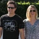 Mark Wahlberg Walks With Wifey