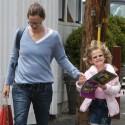 Jen Garner And Violet In Brentwood Country Mart.